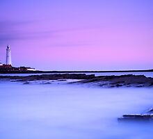 St. Mary's Lighthouse at Dusk by Alex Nichol
