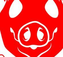 Pig Head Cross Bacon Strips Sticker