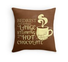 Cheered by Chocolate Throw Pillow