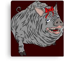 Cutie maneater boar from Bloodborne Canvas Print