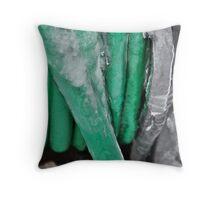 Frozen garden hose Throw Pillow