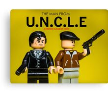 The Man from U.N.C.L.E - Lego Parody Canvas Print