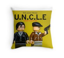 The Man from U.N.C.L.E - Lego Parody Throw Pillow