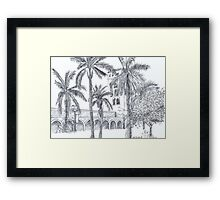 Royal Palm Plaza Framed Print