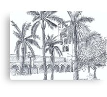 Royal Palm Plaza Canvas Print
