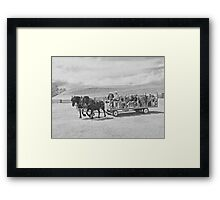 Young Black Team In Unison Framed Print