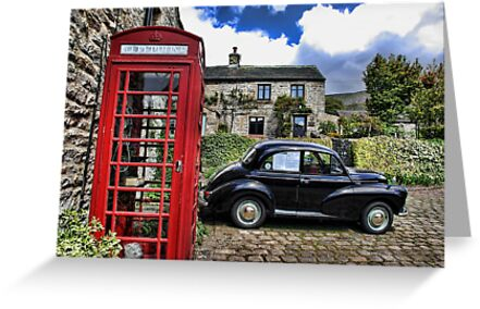 Phonebox and Morris Minor, Low Row by Guy Carpenter