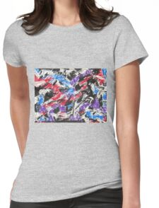 Colorful Mixed Media Art  Womens Fitted T-Shirt
