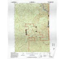 USGS Topo Map Oregon Lawhead Creek 280485 1994 24000 Poster