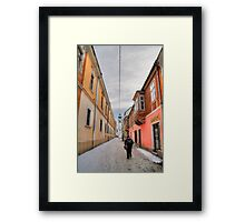 Narrow streets Framed Print
