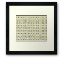 QUANTUM FIELDS ABSTRACT [2] YELLOW [3] Framed Print
