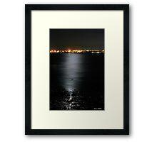 Moon Light over Southampton water Framed Print