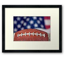 Super Bowl Ball Framed Print