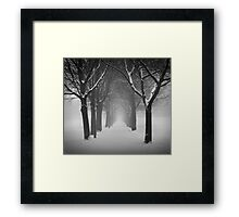 Archway in the snow Framed Print