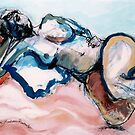 Reclining Multi-Coloured Gestural Nude by Kerryn Madsen-Pietsch