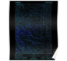 USGS Topo Map Oregon Clover Creek Ranch 279378 1990 24000 Inverted Poster