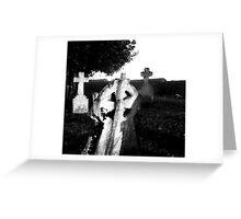 Church Yard Black & White Sketch Greeting Card