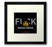 Mr Robot Promo - Lego Parody Framed Print