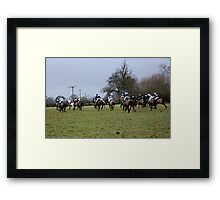 Hayes Golden Button Challenge - horse racing 2011 Gloucestershire Framed Print