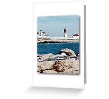 Point Judith Light Greeting Card
