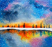 Universal Mind- watercolor painting by Kevin McGeeney