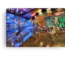 Graffiti Art Reflected Canvas Print