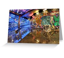 Graffiti Art Reflected Greeting Card