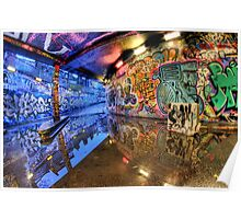 Graffiti Art Reflected Poster