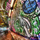 Graffiti tunnel, London Waterloo by Guy Carpenter