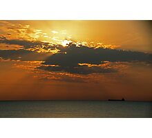 Morning Freighter Photographic Print
