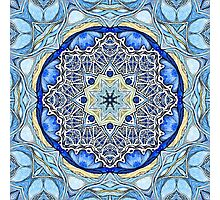 Blue ice Mandala Photographic Print