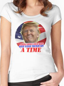 Trump One Less Mexican a Time Women's Fitted Scoop T-Shirt