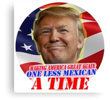 Trump One Less Mexican a Time Canvas Print