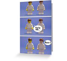 Lego skin  Greeting Card