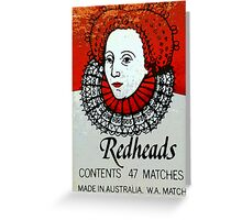 Redhead Matchbox labels - 1 Greeting Card