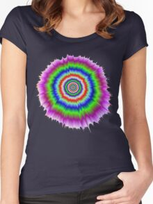 Color Explosion Women's Fitted Scoop T-Shirt