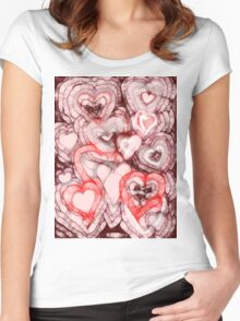 Heart shades Women's Fitted Scoop T-Shirt
