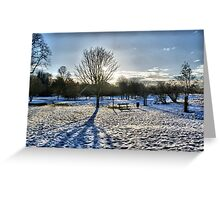 5 Arches In Snow HDR Greeting Card