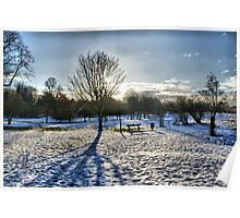 5 Arches In Snow HDR Poster