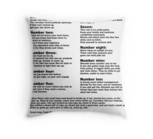 10 Crack commandments   Throw Pillow