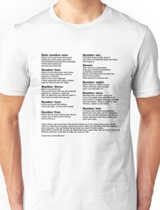 10 Crack commandments   Unisex T-Shirt