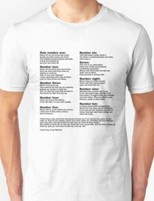 10 Crack commandments   T-Shirt