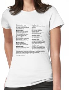 10 Crack commandments   Womens Fitted T-Shirt
