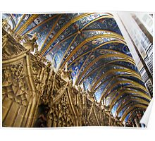 Blue Ceiling - Cathedral of Albi, France Poster
