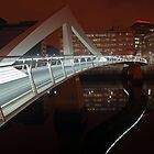 Squiggly Bridge at Night (River Clyde)  by Cliff Williams