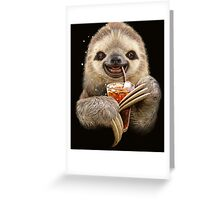 SLOTH & SOFT DRINK Greeting Card
