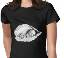 Sleeping baby Womens Fitted T-Shirt