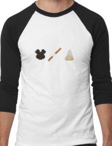 Disneyland Minecraft Food Items Men's Baseball ¾ T-Shirt