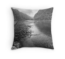 Plitvice Lake in Winter Throw Pillow