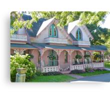 GingerBread Houses, Oak Bluffs,  Canvas Print